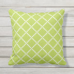 "Lime Green Outdoor Pillows Scandinavian Pattern<br><div class=""desc"">Lime Green geometric Scandinavian craft pattern outdoor pillow. Made in the USA. Vivid high quality printing. UV and mildew resistant garden or patio pillows with modern patterns in summer colors. 16&quot; or 20&quot; square or 13&quot; by 21&quot; rectangular. Insert included. (For matching indoor throw pillows for the couch or sofa,...</div>"