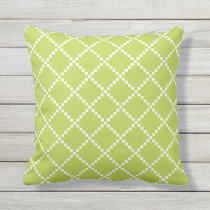 Lime Green Outdoor Pillows Scandinavian Pattern