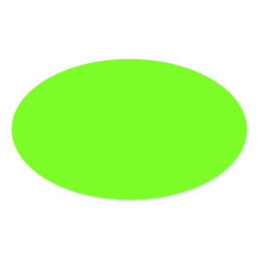 Lime green oval sticker zazzle