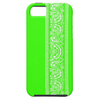 Lime Green Paisley Bandana iPhone 5 Case