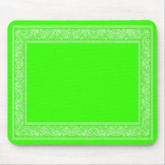 Lime Green Paisley Bandana Mouse Pad