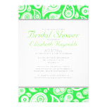 Lime Green Paisley Bridal Shower Invitations Announcement