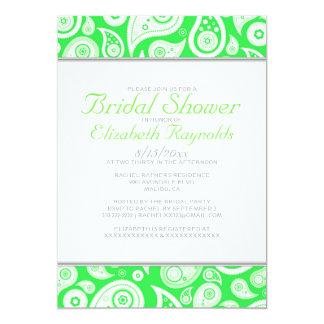 Lime Green Paisley Bridal Shower Invitations