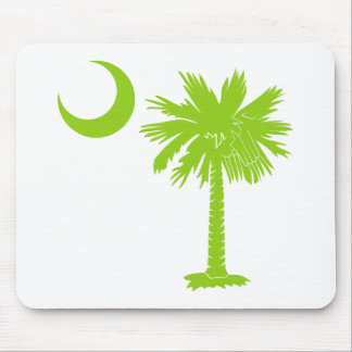 Lime Green Palmetto Mouse Pad