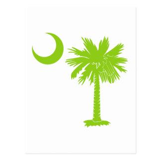 Lime Green Palmetto Postcard
