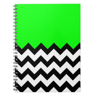 Lime Green Pattern On Large Zigzag Chevron Journal