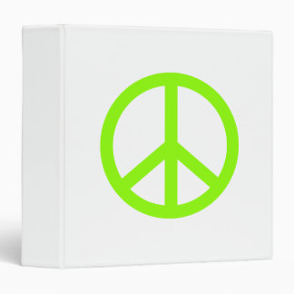 Lime Green Peace 3 Ring Binder