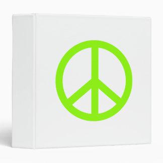 Lime Green Peace Vinyl Binders