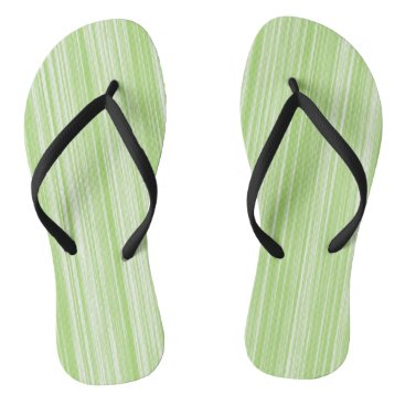 Beach Themed Lime Green Pin Stripes Pattern Flip Flops