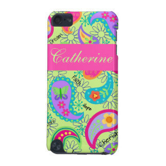 Lime Green Pink Modern Paisley Pattern iPod Touch (5th Generation) Case
