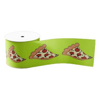 Lime green pizza slices tiled ribbon