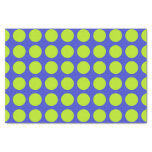 Lime Green Polka Dots Blue Tissue Paper