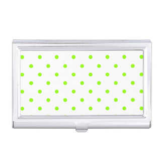 Lime Green Polka Dots Business Card Case