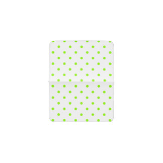 Lime Green Polka Dots Business Card Holder