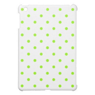 Lime Green Polka Dots Case For The iPad Mini