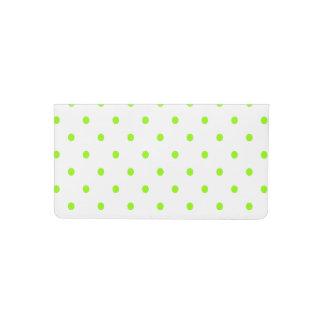 Lime Green Polka Dots Checkbook Cover