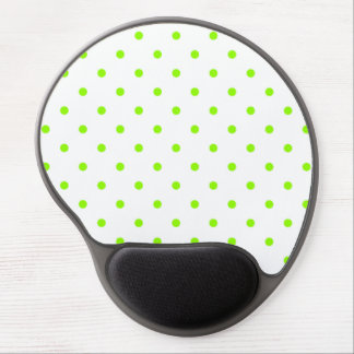 Lime Green Polka Dots Gel Mouse Pad