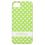 Lime Green Polka Dots iPhone 5 Covers