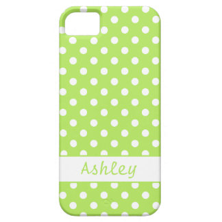 Lime Green Polka Dots iPhone SE/5/5s Case