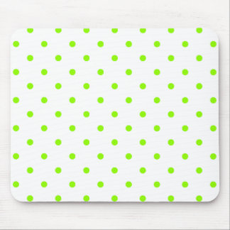 Lime Green Polka Dots Mouse Pad
