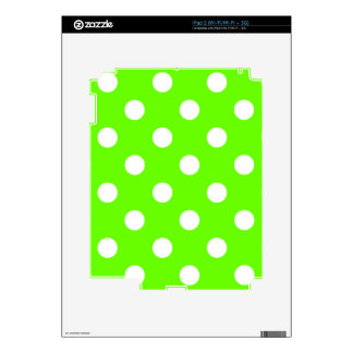 Lime green polka dots nail design for the spring iPad 2 decals