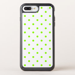 Lime Green Polka Dots Speck iPhone Case