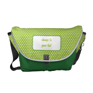 Lime green Polkadot Messenger Bag