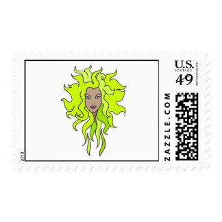 Lime green postage