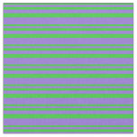 [ Thumbnail: Lime Green & Purple Colored Lines Fabric ]
