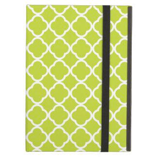 Lime Green Quatrefoil iPad Covers