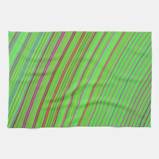 Lime Green Rainbow Kitchen Towels