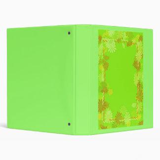 Lime Green retro hippie binder