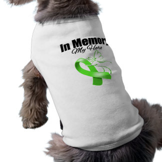 Lime Green Ribbon In Memory of My Hero Dog Clothes