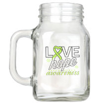 Lime Green Ribbon Love Hope Awareness Mason Jar