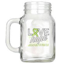 Lime Green Ribbon Love Hope Awareness Mason Jar