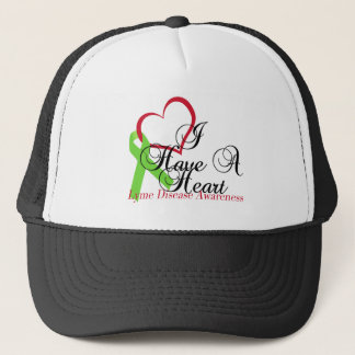 Lime Green Ribbon Lyme Disease Awareness Trucker Hat