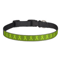Lime Green Ribbon Support Awareness Pet Collar