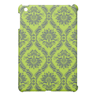 lime green royal damask pern iPad mini cover