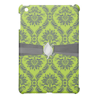 lime green royal damask pern iPad mini covers