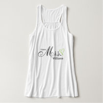 Lime Green Scribbled Heart Future Mrs Tank Top
