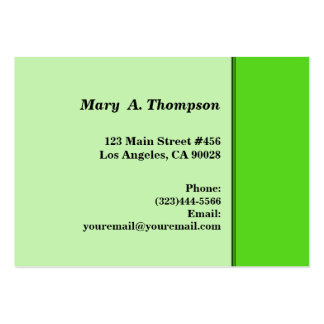 Lime Green side border Business Cards