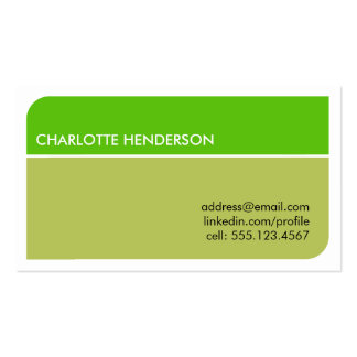Lime green smart student employment resume card business card template