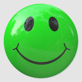 green smiley face stickers zazzle