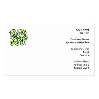 Lime Green Snake. Business Card