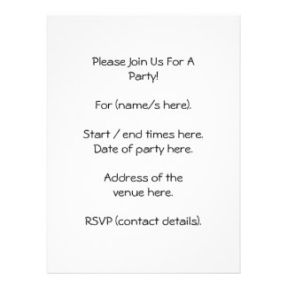 Lime Green Snake. Personalized Invitations