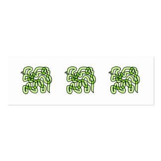 Lime Green Snake. Mini Business Card