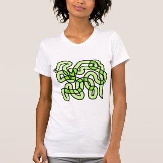 Lime Green Snake. Tee Shirt