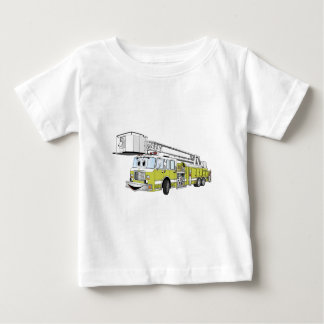 Lime Green Snorkel Fire Truck Cartoon Baby T-Shirt