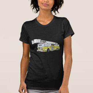 Lime Green Snorkel Fire Truck Cartoon T-shirts