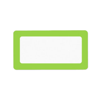 Lime green solid color border blank label